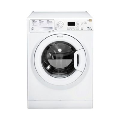 Hotpoint WDPG8640P 1400rpm 8kg Wash & 6kg Dry load Washer Dryer in White