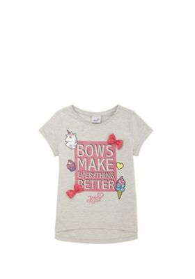 Nickelodeon JoJo Siwa Slogan T-Shirt Grey 10-11 years