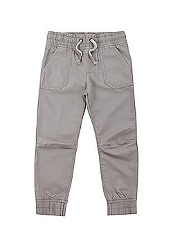 F&F Woven Cuffed Trousers - Grey