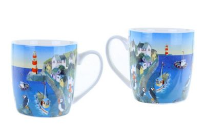Jan Pashley Mug Puffin Cove Design