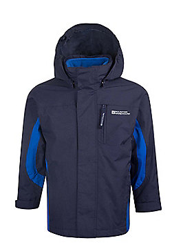 Mountain Warehouse Cannonball 3 in 1 Kids Waterproof Jacket - Turquoise