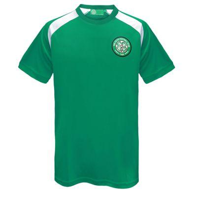 Celtic FC Mens Poly T-Shirt Green 3XL