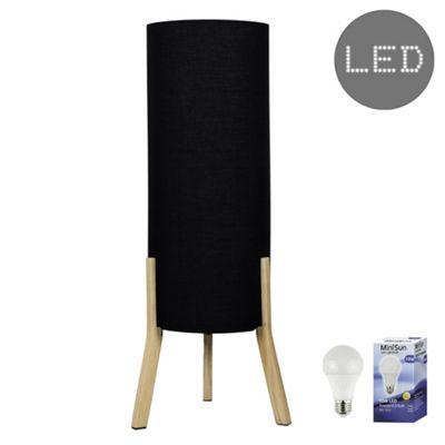 Levi Tripod LED Floor Lamp - Black