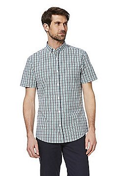 F&F Button-Down Collar Checked Shirt - Green