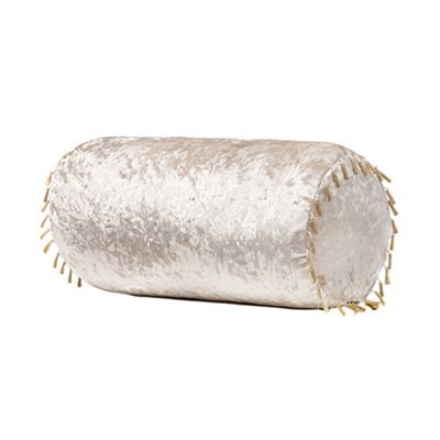 Mink Bolster Crushed Velvet Pillow