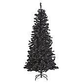Black 6FT Artificial 600 Tip Christmas Xmas Tree