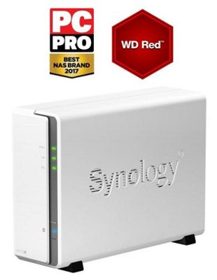 Synology DiskStation DS115j/8TB-RED 1-Bay 8TB (1x8TB WD Red) Desktop Network Attached Storage