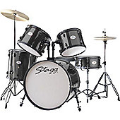 Stagg TIM122BK 5 Piece 22in Drum Kit in Black