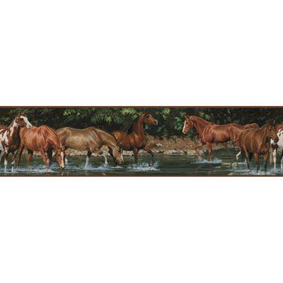 Childrens Self Adhesive Border - Wild Horses
