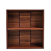 Homcom Wooden Wood 2 Tier Storage Unit Cabinet Home Office Furniture )