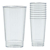 Clear Plastic Tumbler Glasses - 455ml - 16 Pack