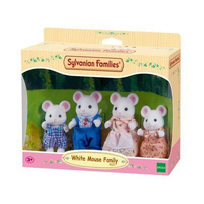 White Mouse Family - Sylvanian Families Figures 4121