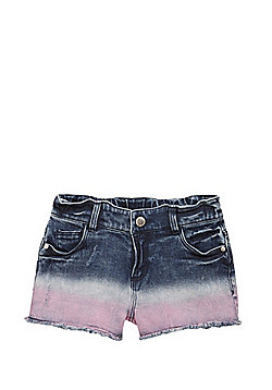 F&F Ombre Denim Shorts - Blue
