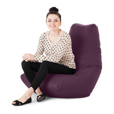 Purple Faux Leather Bean Bag Gaming Chair