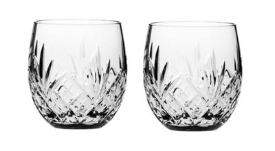 Highland Set of 2 Crystal Barrel Whisky Tumblers from Royal Scot Crystal