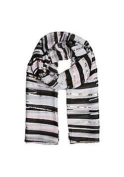 F&F Linear Stripe Scarf - Black