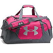 Under Armour Storm Undeniable 3.0 Medium Duffel Sports Bag - Pink/Grey