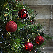 12pcs 6cm Shatterproof Red Christmas Tree Bauble Decorations