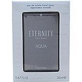 Calvin Klein Eternity Aqua Eau de Toilette (EDT) 20ml Spray For Men