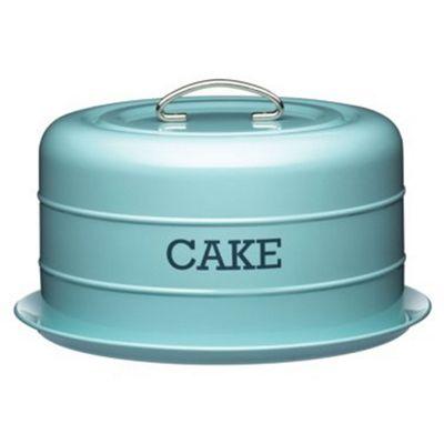 Living Nostalgia Vintage Domed Cake Tin, Blue
