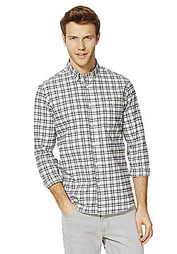 F&F Grindle Check Long Sleeve Shirt - Cream & Blue