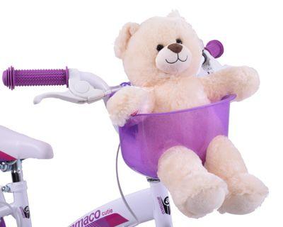 Ammaco Girls Front Bike Teddy Basket Purple