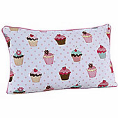 Homescapes Cotton Cup Cakes Scatter Cushion, 30 x 50 cm