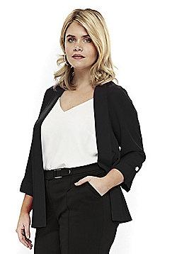 Evans Soft Plus Size Jacket - Black
