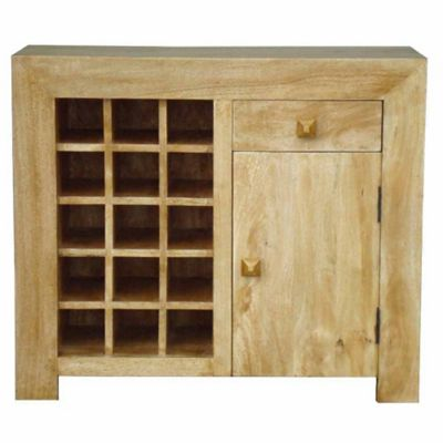 Homescapes Dakota Sideboard with Wine Rack Oak Shade