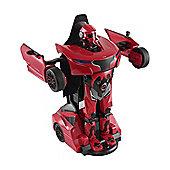 Homcom Remote Control Car Transformer Robot Deformation w/ Light & Sound (Red)