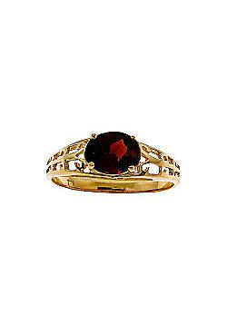 QP Jewellers 1.15ct Garnet Catalan Filigree Ring in 14K Gold