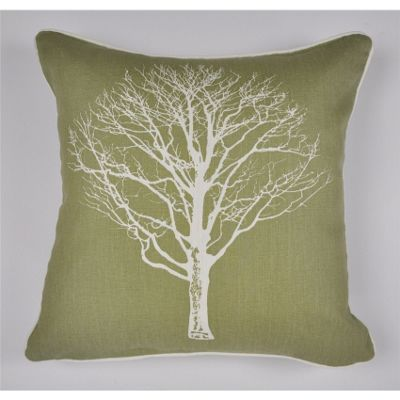 buy fusion woodland trees cushion cover 43x43cm green. Black Bedroom Furniture Sets. Home Design Ideas