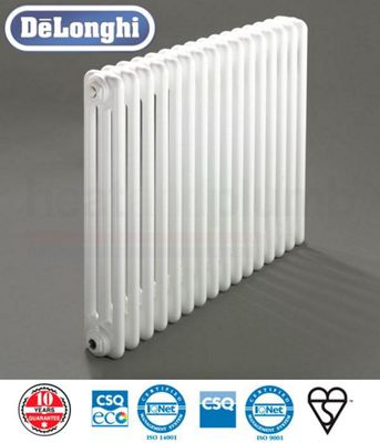 Delonghi 3 Column Radiators - 600mm High x 578mm Wide - 12 Sections