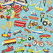 Transport Foam Stickers for Kids (Pack Of 108)
