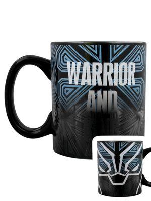 Marvel Black Panther Warrior 10oz Heat Changing Ceramic Mug, Black