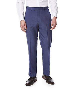 F&F Regular Fit Suit Trousers - Blue