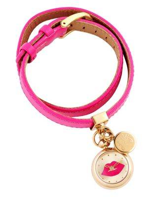 Lulu Guinness Irresistible Ladies Leather Charms Watch LG20012S04X