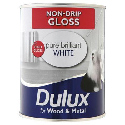 Dulux Non-drip Gloss, Pure Brilliant White, 750ML