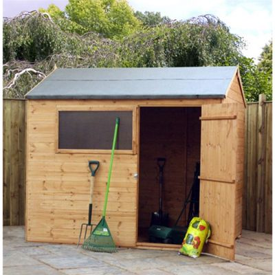 6 x 8 Sutton Tongue And Groove Reverse Apex Shed Garden Wooden Shed 6ft x 8ft (1.83m x 2.44m)