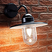 Auraglow Vintage Outdoor Wall Lantern Traditional Nautical Garden Light - Warm White LED Light Bulb Included - Black