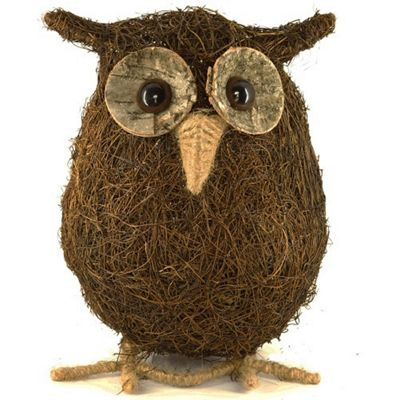 Natural Coco Husk Owl Ornament