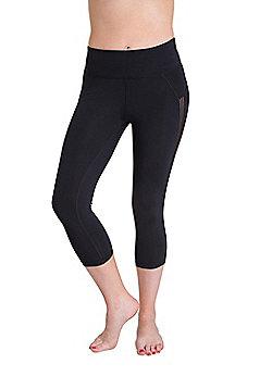 Zakti Womens Super Stretchy Kimberly Wyatt Twist & Shout Isocool Capri Leggings - Black
