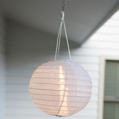 White LED Solar Hanging Chinese Lantern