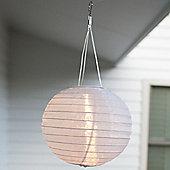 White LED Solar Hanging Chinese Lantern