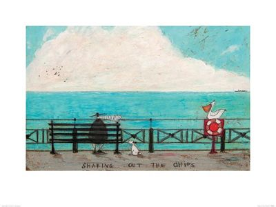 Sam Toft Sharing out the Chips Print 60x80cm