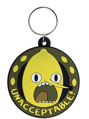 Adventure Time Lemongrab Unacceptable AT Keyring