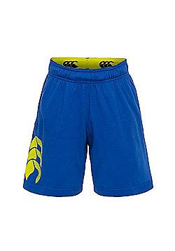 Canterbury Vapodri Kids Cotton Shorts - Mazarine Blue - Blue