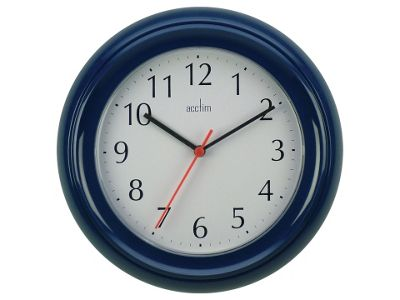Acctim 21419 Wycombe Wall Clock Blue