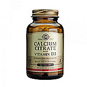Solgar Calcium Citrate with Vitamin D Tablets 60