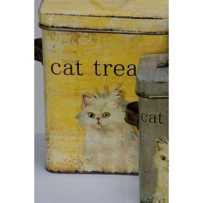 Set of 2 Cat Food Tins